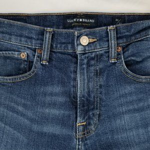 Lucky Brand Men's 121 Slim 30X32 Blue Denim Jeans